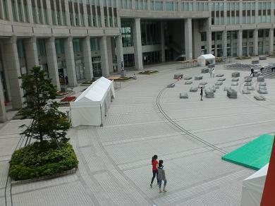 201208 第14回東京大薪能設営3