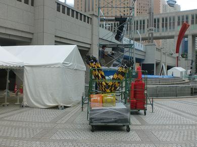 201208 第14回東京大薪能設営5