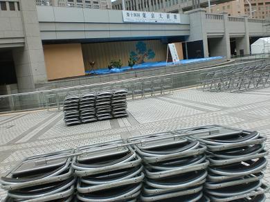 201208 第14回東京大薪能設営6