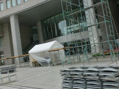 201208 第14回東京大薪能設営7