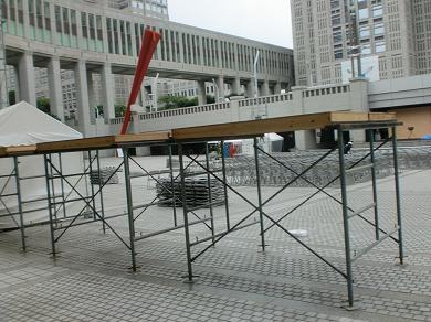 201208 第14回東京大薪能設営9
