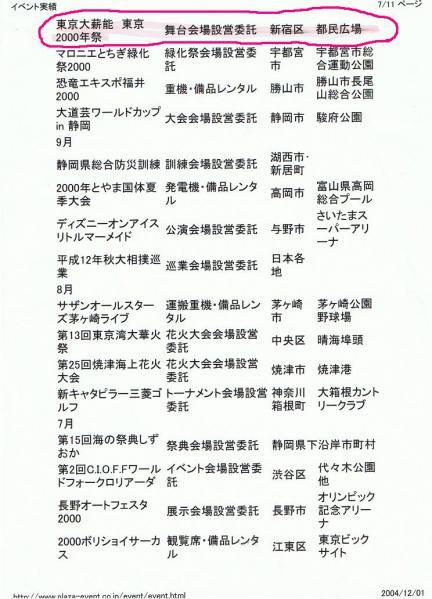 2000 (株)プラザ