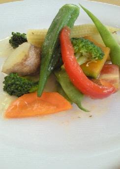 ランチの温野菜