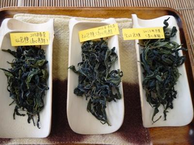 台湾茶講座3回目 文山包種 生産時期別