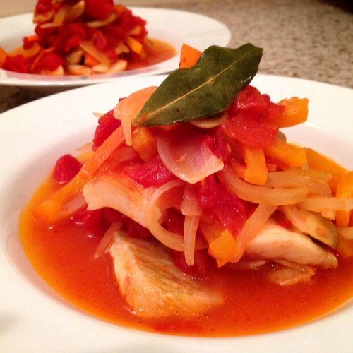 白身魚と野菜の煮込み