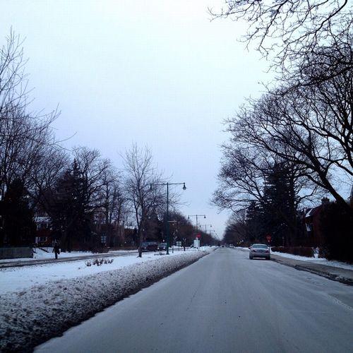 feezing asphalt