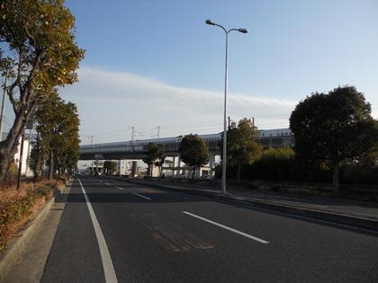上り新幹線停止