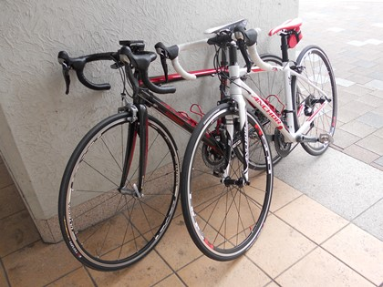 自転車も休憩