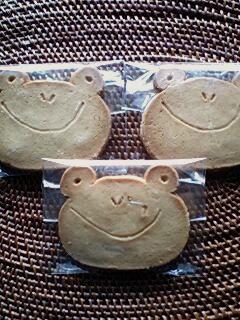 かえるクッキー。