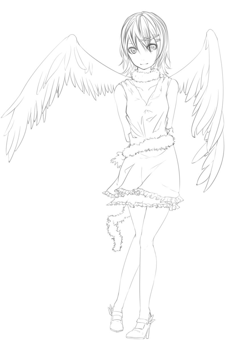 天使_ペン入れ