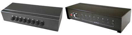 8ポートのオーディオ出力切替器 DN-AS81