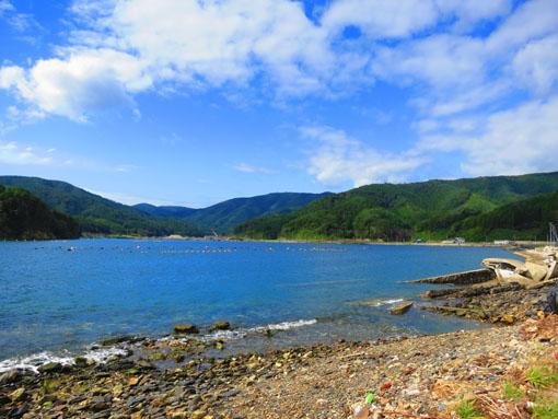 石巻市雄勝町 雄勝湾の風景2 (2013年9月,遠藤夕幻・撮影)