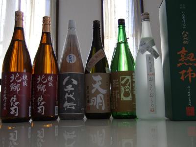 忠司、会津娘、天明、八千代伝、熟柿、おくりおくら