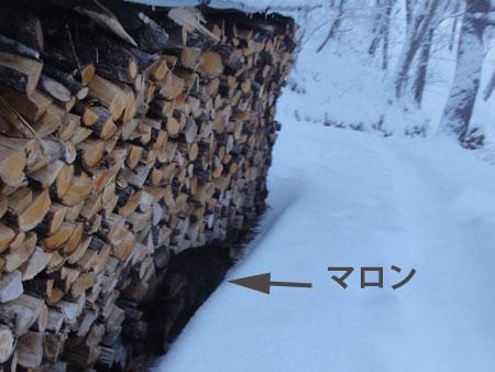 夜中に落雪の音5