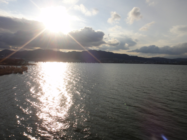琵琶湖夕日