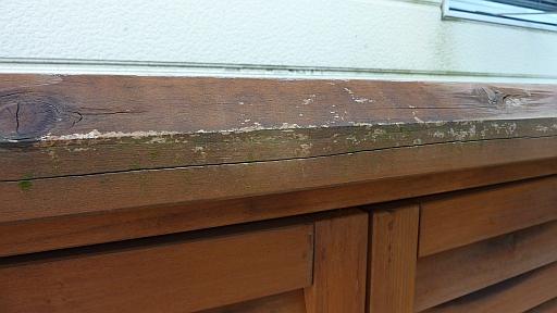 木製物置 塗装
