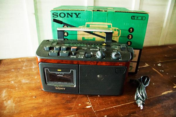 SONY CFM-A50 ラジオカセットコーダー 木目