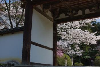 長岳寺楼門入り口