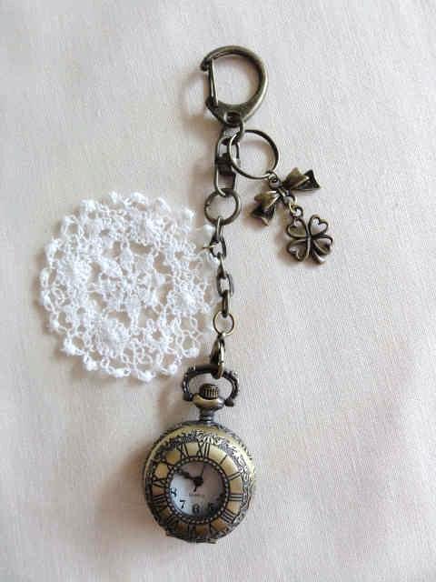 懐中時計のキーホルダー