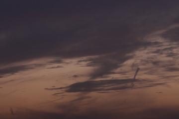 怪しい雲のアップ