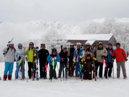 銀嶺会スキー 白馬岩岳スキー場にて