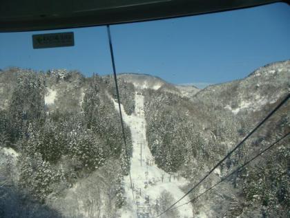 ゴンドラリフト登り景観