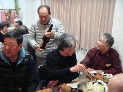 銀嶺会夕食懇親会 大平山荘にて