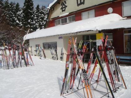 合宿の中高生の距離競技スキー