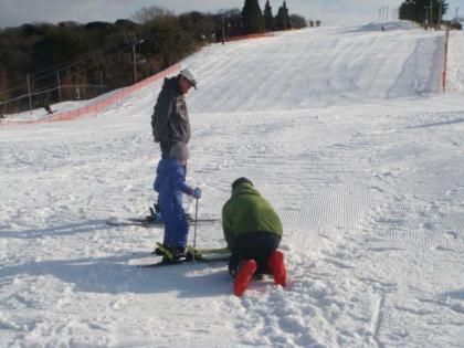 お孫さんの初スキー