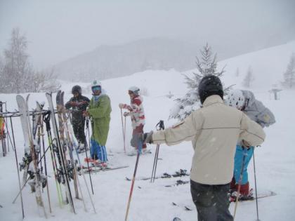 銀嶺会親睦スキー1日目