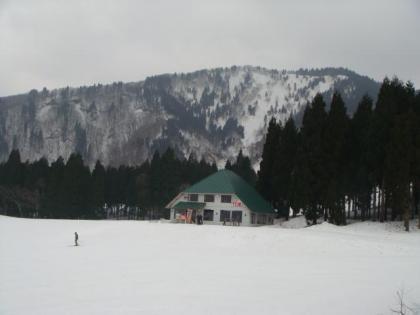 万場スキー場にて