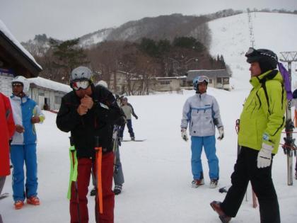 あやべ銀嶺会 八方尾根スキー場にて