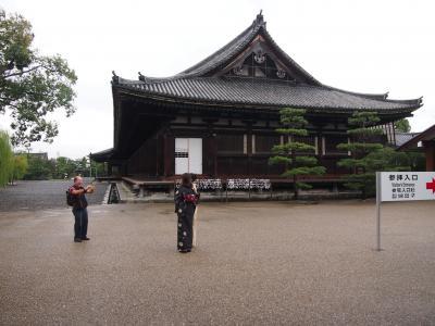 京都・東寺にて
