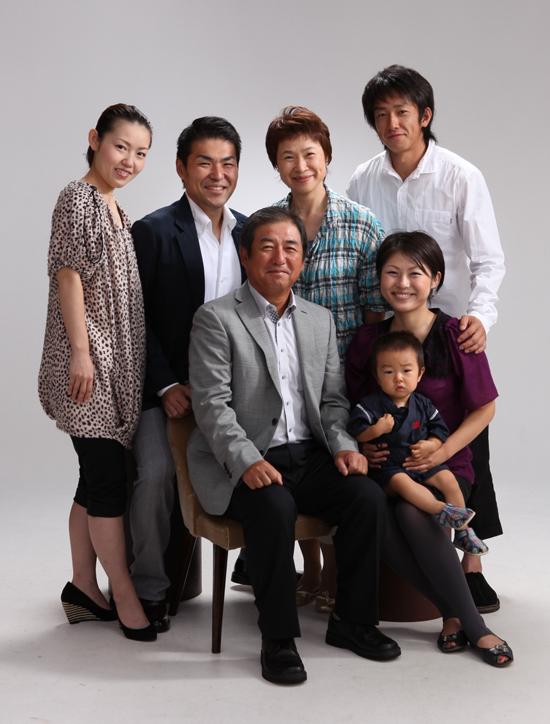 還暦祝いで 家族写真!