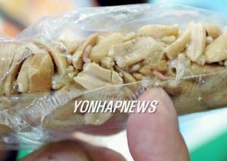 韓国青虫蠢くピーナッツ飴