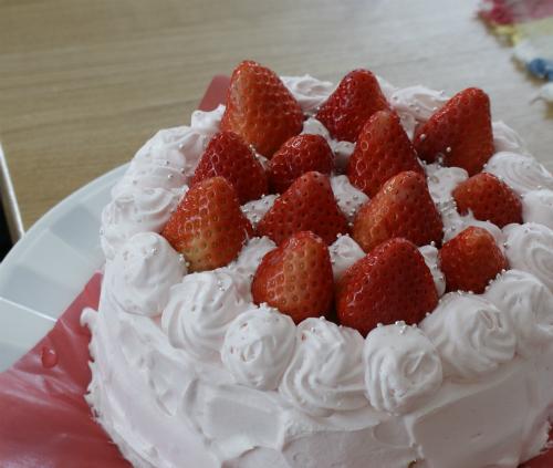 ピンクの雛ケーキ