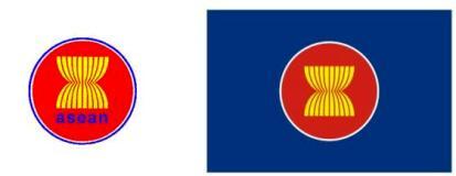 東南アジア諸国連合のロゴマークと旗