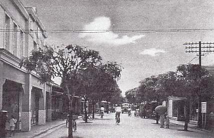 日本統治時代のコロールの街並み