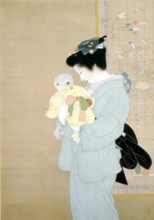 上村松園 母子