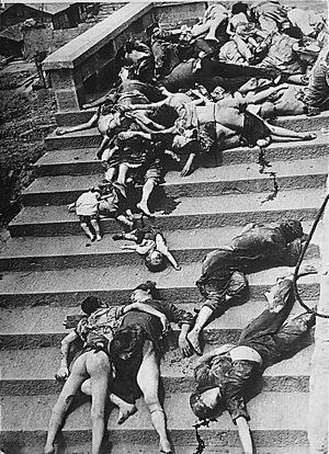 重慶空爆の被害写真といわれているもの