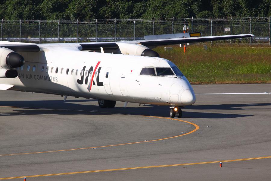 JAC DHC-8-402Q / JAC2342 (JA843C)@下河原緑地展望デッキ