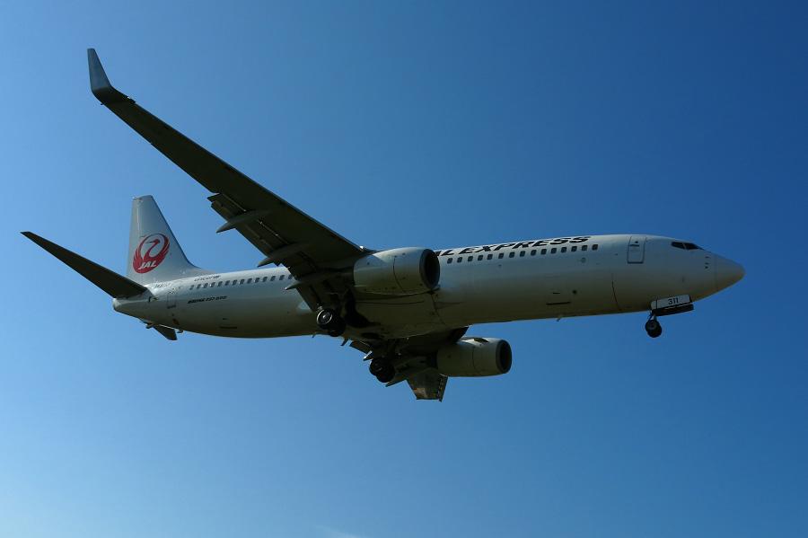 JAL B737-846 / JAL105 (JA311J)@RWY32Lエンド・千里川土手