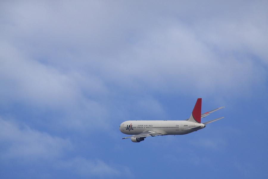 JAL B767-346 / JAL106 (JA8268)@RWY14Rエンド・猪名川土手