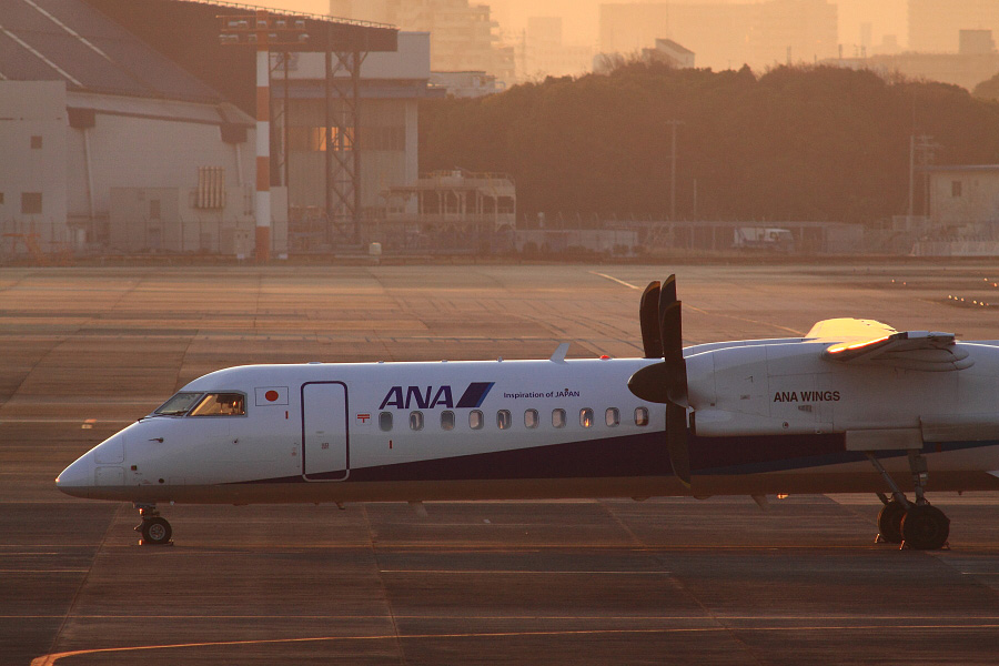 ANA WINGS DHC-8-402Q / JA853A@下河原緑地展望デッキ