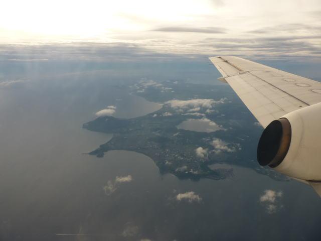 薩摩半島上空