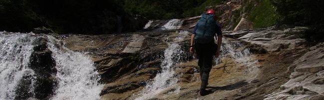 赤木沢のナメ滝