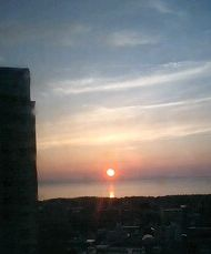 ほんじつの夕陽