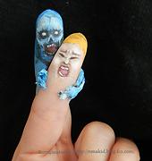 ボディペイントハロウィンtwdゾンビ指人形アート zombifingers