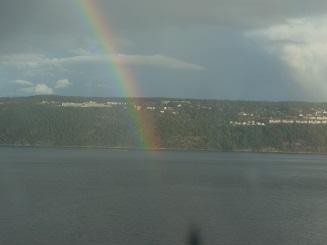 船室からの虹