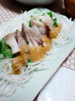 ニワトリのトサカの酢味噌和え画像